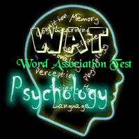 psychology and association test Psychology definition of free-association test: a word test where participants are offered a stimulus word and are expected to respond as quickly as possible with a word they associate with that word.