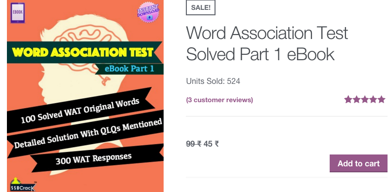 Solved word association Test