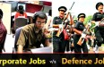 Defence Jobs vs. Corporate Jobs