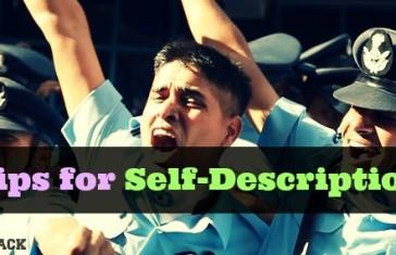 Tips for Self-Description