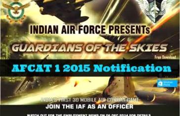 afcat 1 2015 notification