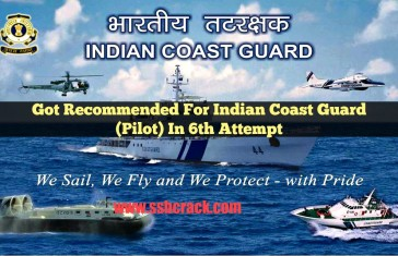 Got Recommended For Indian Coast Guard (Pilot) In 6th Attempt