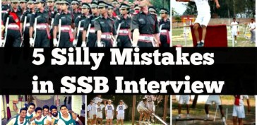 5 Silly Mistakes in SSB Interview
