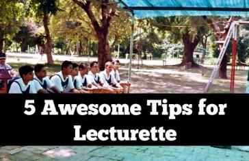 indvidual lecturette tips ssb