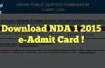 nda admit card 2015 download