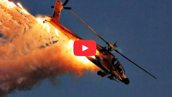 Apache AH-64 Attack Helicopter in Action