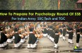How To Prepare For Psychology Round Of SSB For Indian Army SSC Tech and TGC