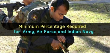 Minimum Percentage Required To Join Indian Army, Air Force and Indian Navy