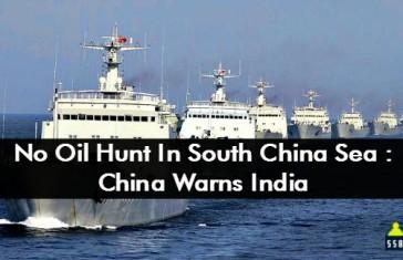 No Oil Hunt In South China Sea China Warns India