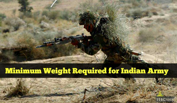 indian army weight