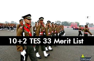 10+2 TES 33 Merit List