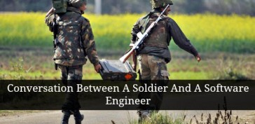 Conversation Between A Soldier And A Software Engineer