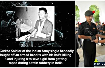 Gorkha Soldier from Indian Army Saves Girl from Rape and Takes on 40 Train Robbers with Only A Khukuri