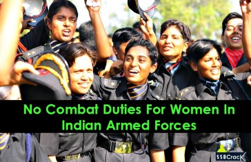 No Combat Duties For Women In Indian Armed Forces