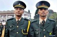 Brothers Rahul Tiwari and Vikas Tiwari after the passing out parade at IMA