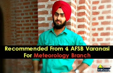 Recommended From 4 AFSB Varanasi For Meteorology Branch