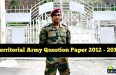 Territorial Army Question Paper download