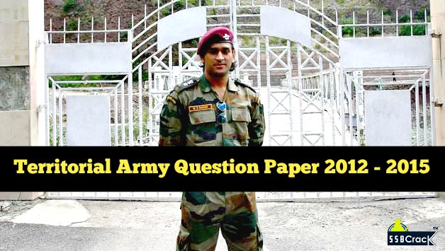 Territorial army (t. A. ) question papers 2015 nca academy.