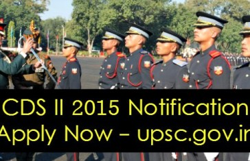 CDS II 2015 Notification