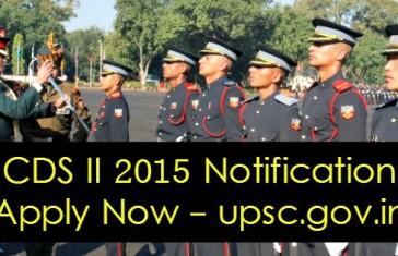 CDS II 2015 Notification