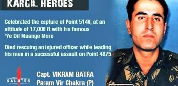 Capt Vikram Batra, PVC 07 Jul 1999