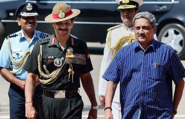 Indian Defence All Chief with Defence minister