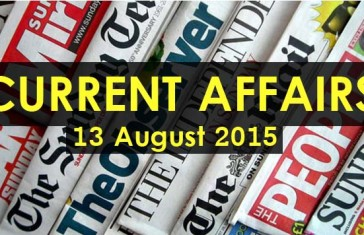 13-August-2015-Current-Affairs