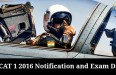AFCAT 1 2016 Notification and Exam Date