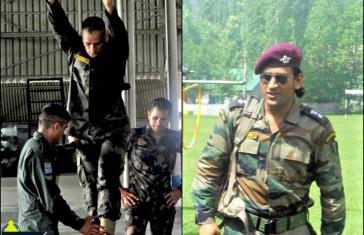 MS DHONI Army Training