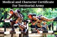 Medical and Character Certificate For Territorial Army
