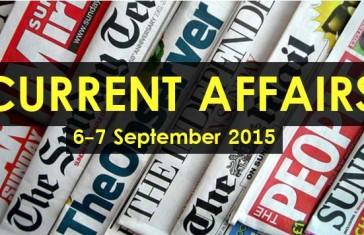 6-7-September-2015-Current-Affairs