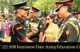 AEC 122 SSB Interview Date Army Education Corps