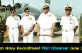 Indian Navy Pilot Observer Recruitment  June 2016