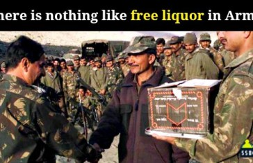 Indian army liquor