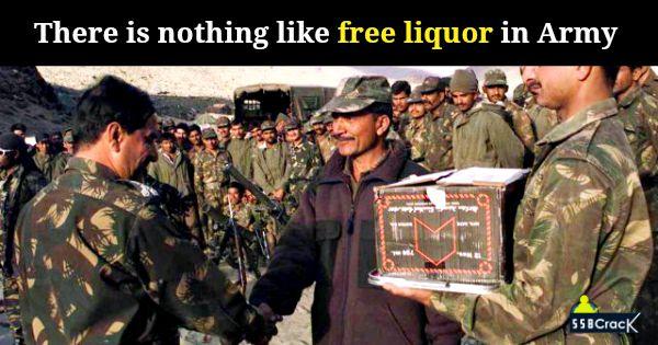Indian army liquor