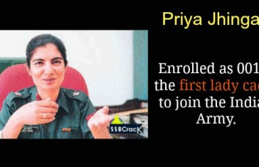 Priya Jhingan enrolled as 001 — the first lady cadet to join the Indian Army
