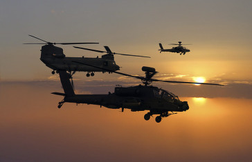 The Apache And The Chinook Helicopters