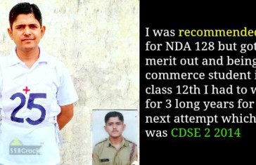 Recommended In CDSE Entry From 18 SSB Allahabad