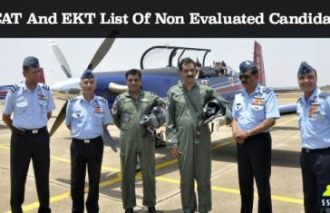AFCAT And EKT List Of Non Evaluated Candidates