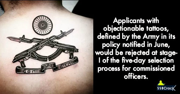 Army Says No To Offensive Tattoo While Hiring Officers