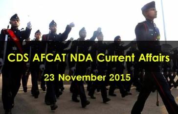 Current Affair 23 November 2015