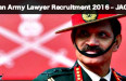 Indian Army Lawyer Recruitment 2016