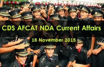 cds-afcat-nda-current-affairs-18-november-2015