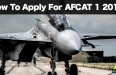 How To Apply For AFCAT 1 2016