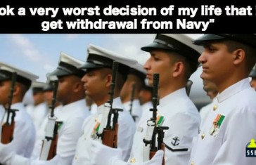 I took a very worst decision of my life that is to get withdrawal from Navy
