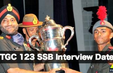 TGC 123 SSB Interview Date