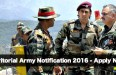 Territorial Army Notification 2016