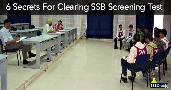 6 Secrets For Clearing SSB Screening Test