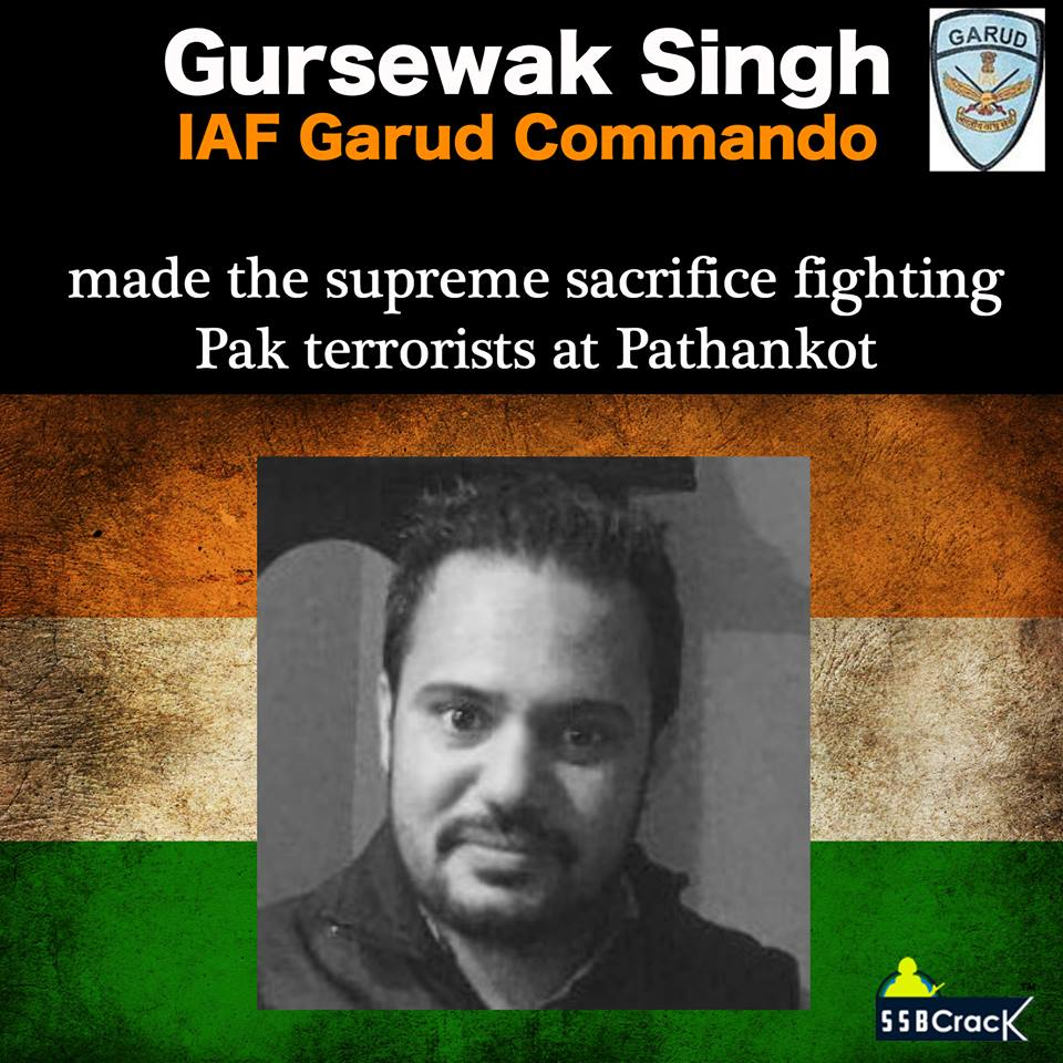 Corporal Gursewak Singh, A Garud Commando