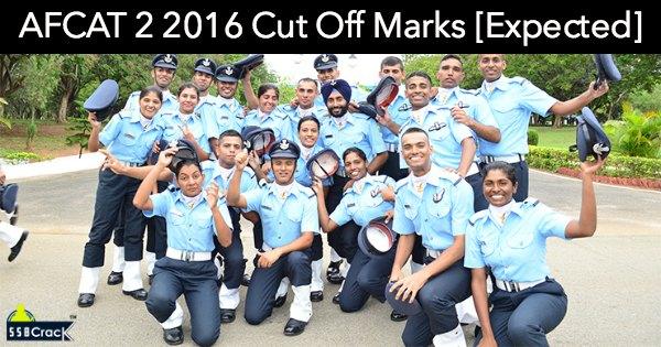 AFCAT 2 2016 Cut off